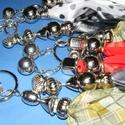 Felületkezelt műanyag köztes-40 (gömb - függőleges csíkos/1 db), Gyöngy, ékszerkellék, Alkotók boltja
