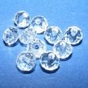 Csiszolt üveggyöngy-1 (4x6 mm/10 db) - színtelen, Gyöngy, ékszerkellék,  Csiszolt üveggyöngy-1 - színtelen  Mérete: 4x6 mmFurat: 1 mm  Kiszerelés: 10 db/csomag  Az ár..., Alkotók boltja