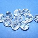 Csiszolt üveggyöngy-2 (6x8 mm/10 db) - színtelen, Gyöngy, ékszerkellék,  Csiszolt üveggyöngy-2 - színtelen  Mérete: 6x8 mmFurat: 1 mm  Kiszerelés: 10 db/csomag Az ár ..., Alkotók boltja