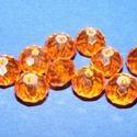 Csiszolt üveggyöngy-14 (6x8 mm/10 db) - tűzopál, Gyöngy, ékszerkellék,  Csiszolt üveggyöngy-14 - tűzopál  Mérete: 6x8 mmFurat: 1 mm  Kiszerelés: 10 db/csomag Az ár ..., Alkotók boltja