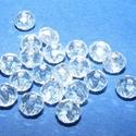 Csiszolt üveggyöngy-23 (4x3 mm/20 db) - színtelen, Gyöngy, ékszerkellék,  Csiszolt üveggyöngy-23 - színtelen  Mérete: 4x3 mmFurat: 1 mm  Kiszerelés: 20 db/csomag Az ár..., Alkotók boltja