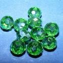 Csiszolt üveggyöngy-26 (4x6 mm/10 db) - zöld, Gyöngy, ékszerkellék,  Csiszolt üveggyöngy-26 - zöld  Mérete: 4x6 mmFurat: 1 mm  Kiszerelés: 10 db/csomag Az ár egy ..., Alkotók boltja