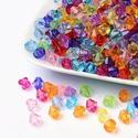 Műanyag gyöngy-58 (8x8 mm/30 db) - gyémánt mix, Gyöngy, ékszerkellék,  Műanyag gyöngy-58 - vegyes színek - gyémánt alakú   Mérete: 8x8 mmFurat: 1 mm  A csomag tart..., Alkotók boltja