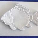 Tengeri-19 - gipszöntő forma (1 motívum) - haltál, Egyéb szerszám, eszköz,            Tengeri-19 - gipszöntő forma - haltál  - sablon: 20x25 cm- minta: 21x15 cm Az ár egy ..., Alkotók boltja