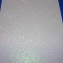 Glitteres dekorgumi (A/4 méret/1 db) - fehér, Vegyes alapanyag, Mindenmás,  Dekorgumi - glitteres - fehér - A/4 méret  Az egyik legnépszerűbb és legolcsóbb alapanyag, sok tec..., Alkotók boltja