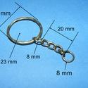 Kulcskarika lánccal (469/D minta/1 db) - 25 mm , Csat, karika, zár,  Kulcskarika lánccal (469/D minta) - lapos karika - bronz színben  Méretei: Kulcskarika:25 mmLán..., Alkotók boltja