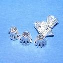 Gyöngykupak (29. minta/4db) - 7 mm, Egyéb alkatrész,  Gyöngykupak (29. minta) - ezüst színben  Mérete: 7 mm  Az ár 4 darab termékre vonatkozik.  , Alkotók boltja