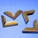 Fémsarok (3. minta/1 db) - 16x16 mm, Csat, karika, zár, Mindenmás,  Fémsarok (3. minta) - bronz színben    Elsősorban könyvek, albumok sakainak dekorálásához ajánlj..., Alkotók boltja