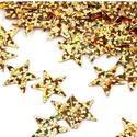 Flitter-67 (3 g/csomag) - 13mm arany (csillag), Gyöngy, ékszerkellék, Varrás,  Flitter-67 (3 g/csomag) - 13mm arany (csillag)  Mérete: Ø 13 mmA furat mérete: 1 mm  Kiszerelés: ..., Alkotók boltja