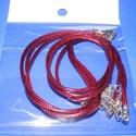 Bőrutánzat nyaklánc alap (8. minta/1 db) - s.vörös, Gyöngy, ékszerkellék, Ékszerkészítés,  Bőrutánzat nyaklánc alap (8. minta/1 db) - s.vörösA szerelékek nikkel színűek.A nyaklánc hossza: 4..., Alkotók boltja