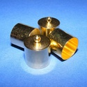 Bőrvég (44 minta/1 db) - 16x14 mm, Gyöngy, ékszerkellék, Ékszerkészítés,  Bőrvég (44 minta)Belső átmérő: 13,5 mm  Az ár egy darab termékre vonatkozik.   , Alkotók boltja