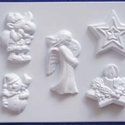 Karácsony-21 - gipszöntő forma (5 motívum) - karácsonyi figurák, Szerszámok, eszközök, Egyéb szerszám, eszköz, Gipszöntés,     Karácsony-21 - karácsonyi gipszöntő forma   5 különböző figura: csillag, gyertya, szarvas, hóem..., Alkotók boltja