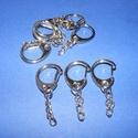 Kulcstartó lánccal (469/K minta/1 db) - 22 mm, Csat, karika, zár, Mindenmás,  Kulcstartó lánccal (469/K minta) - nikkel színben  Méretei: Kulcskarika: 22x15 mmTeljes hossz: 45 ..., Alkotók boltja