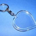 Plexi kulcstartó (1. minta/1 db) - szív, Csat, karika, zár,  Kulcstartó (1. minta) - plexi - szív  A kulcstartóba fotó, kép vagy egyéb dekoráció tehető..., Alkotók boltja
