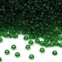 Cseh üveggyöngy-11 (2 mm/10 g) - átlátszó fenyőzöld , Gyöngy, ékszerkellék,  Cseh üveggyöngy-11 - fenyőzöld - átlátszó  Kiváló minőségű cseh (preciosa) kásagyöngy..., Alkotók boltja