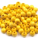 Festett fagyöngy-37 (Ø 8 mm/15 g) - sárga, Gyöngy, ékszerkellék,  Festett fagyöngy-37 - sárga  Mérete: Ø 8 mmFurat: 2 mm  Kiszerelés: 15 gA csomag tartalma: kb...., Alkotók boltja