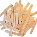 Fa spatula (11,3 x0,9 cm/50 db), Fa,  Fa spatula    Mérete: 11,3 x 0,9 cmVastagsága: 1,9 mmAnyaga: natúr fa  Az ár 50 darab termék..., Alkotók boltja