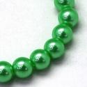 Viaszgyöngy-14 (Ø 8 mm/~ 110 db) - zöld, Gyöngy, ékszerkellék,  Viaszgyöngy-14 - zöld  Méret: Ø 8 mmFurat: 1 mm  A csomag tartalma: kb. 110 db viaszgyöngy Az ..., Alkotók boltja