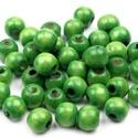 Festett fagyöngy-39 (Ø 8 mm/15 g) - zöld, Gyöngy, ékszerkellék,  Festett fagyöngy-39 - zöld  Mérete: Ø 8 mmFurat: 2 mm  Kiszerelés: 15 gA csomag tartalma: kb. ..., Alkotók boltja