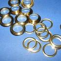 Fém ringli (Ø 12 mm/1 pár) - arany, Csat, karika, zár, Mindenmás,    Fém ringli - arany színben  A csomag tartalma: 1 pár platinum színű vas alapú fém ringli (egy ri..., Alkotók boltja