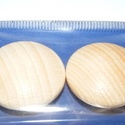 Falencse (Ø 25 mm/2 db) - natúr, Cabochon,    Lencse alakú fagomb - natúr Mérete: Ø 25 mmAnyaga: natúr fa, nem pácolt, nem kezelt   Az á..., Alkotók boltja