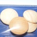 Falencse (Ø 20 mm/4 db) - natúr, Cabochon,    Lencse alakú fagomb - natúr Mérete: Ø 20 mmAnyaga: natúr fa, nem pácolt, nem kezelt   Az á..., Alkotók boltja