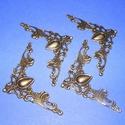 Fémsarok (18. minta/1 db) - 41x41 mm, Csat, karika, zár,  Fémsarok (18. minta) - antik bronz színben - díszes    A terméket számtalan dekorációs leh..., Alkotók boltja