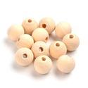 Natúr fagolyó (Ø 16 mm/10 db), Gyöngy, ékszerkellék,  Natúr fagolyó  Mérete: Ø 16 mmA furat mérete: kb. 3,5 mmAnyaga: natúr fa, nem pácolt, nem ke..., Alkotók boltja