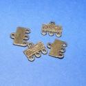 Bronz végzáró(63.minta 4db), Gyöngy, ékszerkellék, Egyéb alkatrész, Alkotók boltja