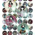 24 különböző kép! Digitális, nyomtatható kollázs ékszerkészítéshez,  Gorjuss kislány , Gyöngy, ékszerkellék, Cabochon, Ékszerkészítés, Papírművészet, Gyöngy, 24 különböző kép - Gorjuss kislány képek kollázsként megszerkesztve.   Digitális kollázs ékszerkész..., Alkotók boltja