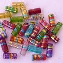 Színes akril csövecskék - 15x6mm  - 30db/csom, Gyöngy, ékszerkellék, Műanyag gyöngy, Színpompás, nyárias akril cső formájú gyöngyök ékszerkészítéshez. A gyöngyöknek van eg..., Alkotók boltja