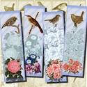 Nyomtatható könyvjelzők - virágok és madarak , Papír, Romantikus hangulatú nyomtatható könyvjelzők virágokkal és madarakkal   Min. 5 termék rendelésekor 4..., Alkotók boltja