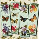Nyomtatható romantikus könyvjelzők - Virágok és pillangók , Papír, Virágok és pillangók - nyomtatható könyvjelzők   Min. 5 termék rendelésekor 400 Ft / kollázs !  *** ..., Alkotók boltja