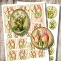Nyomtatható decoupage képek , Papír, Tulipánok és gyöngyvirágok - csendéletek régi képeslapokról - nyomtatható képkollázs   ***  Mit kaps..., Alkotók boltja