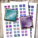 Csillagköd - nyomtatható négyzetek , Papír, Dekorációs kellékek, Csillagok, űr, csillagköd - nyomtatható, négyzet alakú képek  Ha min. 5 terméket rendelsz a boltombó..., Alkotók boltja
