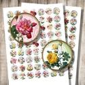 Csipkék és rózsák - nyomtatható képek ékszerkészítéshez , Gyöngy, ékszerkellék, Üveglencse, Csipkék és rózsák - nyomtatható, kör alakú képek  Min. 5 termék rendelésekor 400 Ft / kollázs !  ***..., Alkotók boltja