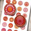 Mandalák őszi színekben - Nyomtatott képek ékszerkészítéshez , Gyöngy, ékszerkellék, Papír, Grafika, fotó, Üveglencsés ékszereidet teheted egyedivé mintaíveim segítségével. Megvásárolhatók nyomtatott vagy d..., Alkotók boltja