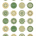 Papír alap ékszerkészítéshez - zöld mandalák , Gyöngy, ékszerkellék, Cabochon, Alkotók boltja