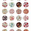 Nyomtatható ékszerpapír - Vintage virágmintás papír alap , Papír, Gyöngy, ékszerkellék, Alkotók boltja