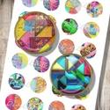 Absztrakt minták - nyomtatott képkollázs modern ékszerekhez , Gyöngy, ékszerkellék, Papír, Üveglencsés ékszereidet teheted egyedivé mintaíveim segítségével. Megvásárolhatók nyomtatott vagy di..., Alkotók boltja
