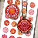 Mandalák őszi színekben - Nyomtatható képek ékszerkészítéshez , Gyöngy, ékszerkellék, Papír, Grafika, fotó, Nyomtatható mintaív kör alakú mintákkal, üveglencsés ékszerek készítéséhez.   -Kiváló minőségű, él..., Alkotók boltja