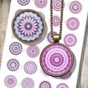 Nyomtatható ékszerpapír - Pink mandalák, Papír, Nyomtatható mintaív kör alakú mintákkal, üveglencsés ékszerek készítéséhez.   -Kiváló minőségű, éle..., Alkotók boltja