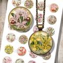 Orchideák - nyomtatható ékszerpapír , Papír, Vegyes alapanyag, Nyomtatható mintaív kör alakú mintákkal, üveglencsés ékszerek készítéséhez.   -Kiváló minőségű, éle..., Alkotók boltja
