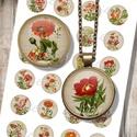 Kerti virágok - nyomtatható ékszerpapír, Gyöngy, ékszerkellék, Dekorációs kellékek, Nyomtatható mintaív kör alakú mintákkal, üveglencsés ékszerek készítéséhez.   -Kiváló minőségű, éle..., Alkotók boltja