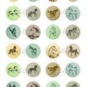 Nyomtatható ékszerpapír lovas motívumokkal, Papír, Gyöngy, ékszerkellék, Alkotók boltja