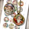 Mikulás-portrék - nyomtatható képek régi képeslapokról, Papír, Nyomtatható mintaív üveglencsés ékszerek készítéséhez.   -Kiváló minőségű, éles, 300 dpi felbontású..., Alkotók boltja