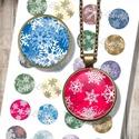 Karácsonyi minták - nyomtatható képkollázs, Papír, Nyomtatható mintaív üveglencsés ékszerek készítéséhez.   -Kiváló minőségű, éles, 300 dpi felbontású..., Alkotók boltja