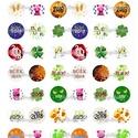 Nyomtatható ékszerpapír - Újévi minták  , Papír, Gyöngy, ékszerkellék, Alkotók boltja