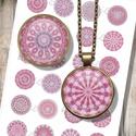 Rózsaszínű mandalák - digitális képek ékszerkészítéshez , Papír, Decoupage, szalvétatechnika, Grafika, fotó, Decoupage minták, Nyomtatható mintaív kör alakú mintákkal, üveglencsés ékszerek készítéséhez.   -Kiváló minőségű, él..., Alkotók boltja