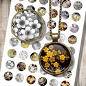 Nyomtatható ékszerpapír arany és ezüst origami motívumokkal, Gyöngy, ékszerkellék, Üveglencse, Alkotók boltja